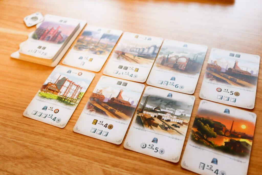 「ファーナス -ロシア産業革命-」のゲームの流れ