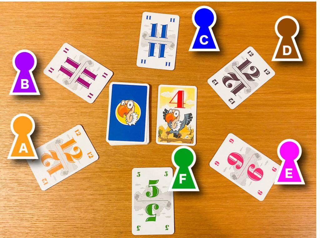 「数字カード」を選ぶ|『ハゲタカのえじき』のルール