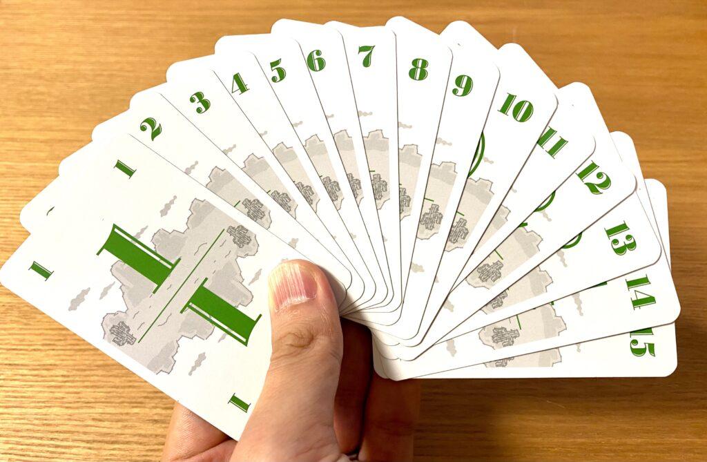 「数字カード」『ハゲタカのえじき』のゲーム準備