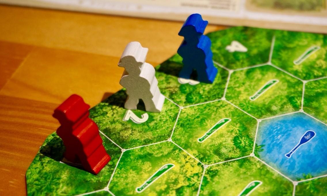 ゲーム紹介『エルドラド(Wettlauf nach El Dorado)』:スタート位置にプレイヤー駒をセット