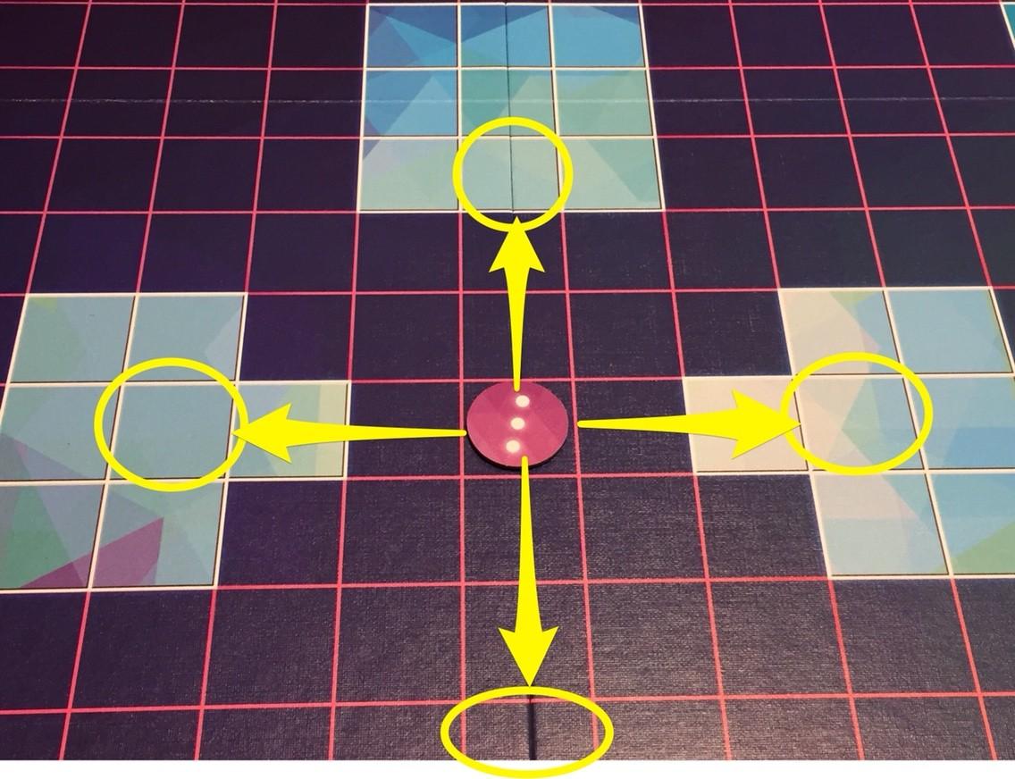 ボードゲーム紹介『グリュックス(Glüx)』:タイルの動き①