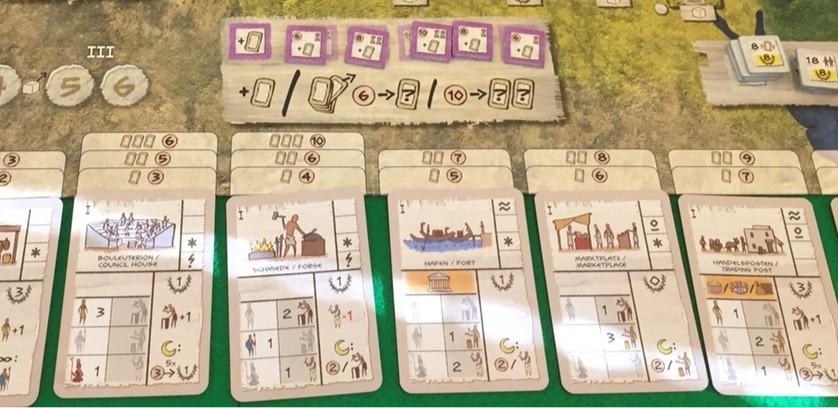 ゲーム紹介『ジェンティス (Gentes)』:建造物カードの購入