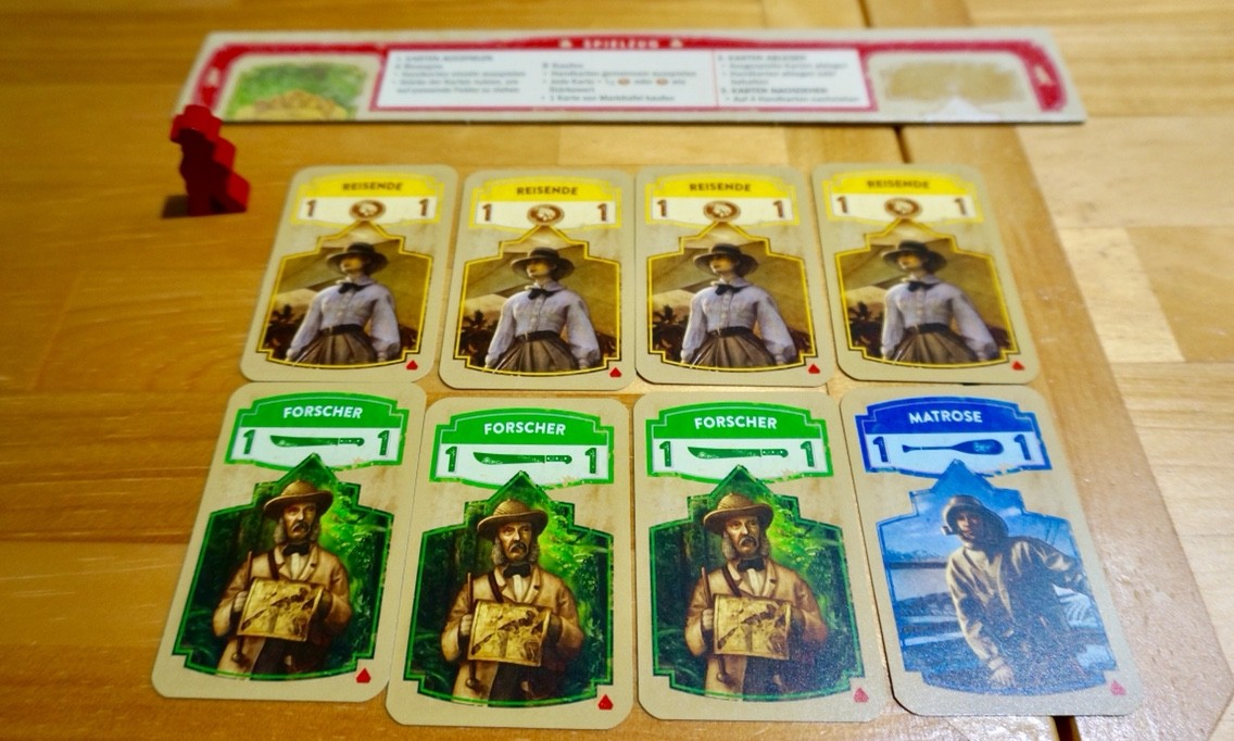 ゲーム紹介『エルドラド(Wettlauf nach El Dorado)』:初期カード