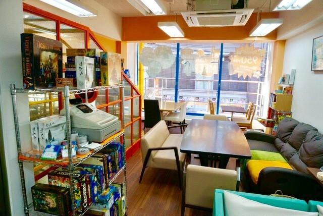 京都・ボードゲームカフェ『カフェミープル』 :店内レイアウト