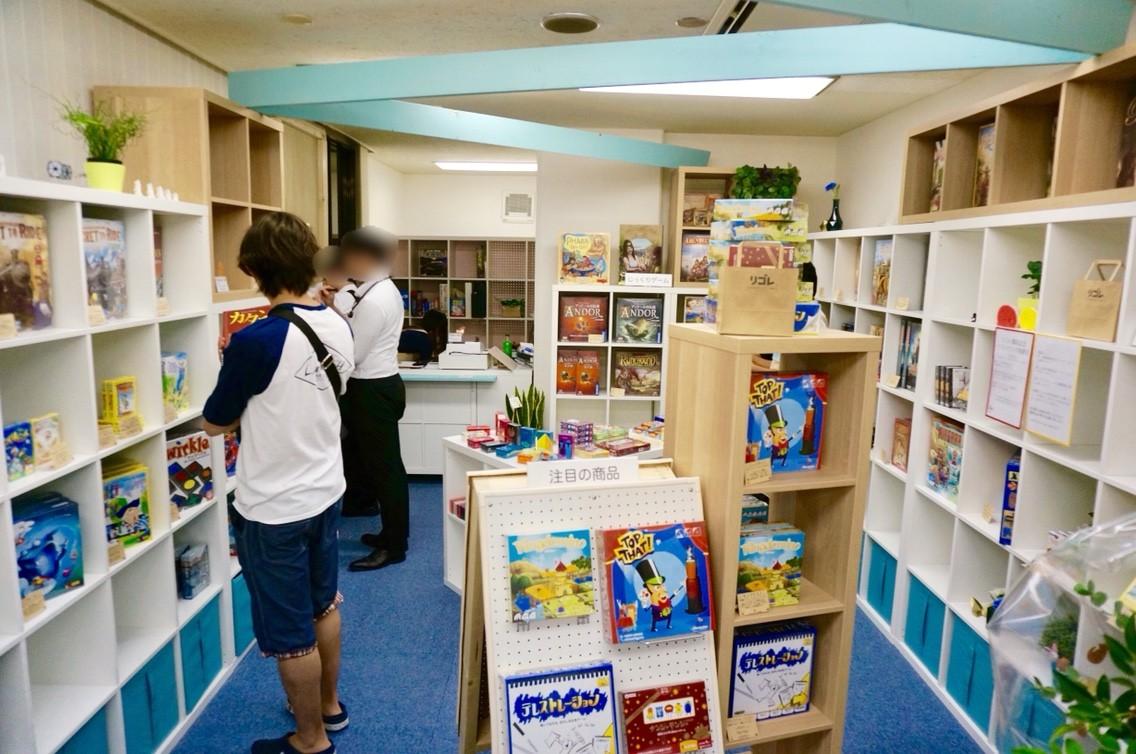 横浜・中華街/石川町のボードゲームショップ『リゴレ』:店内の様子